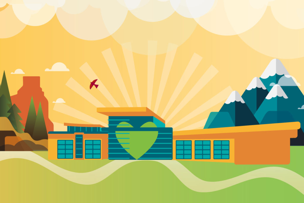 The new West Springs Hospital Illustration
